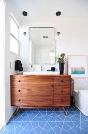 blue bathroom floor tile. Installation Stories: Midcentury Meets Modern Bathroom Blue Floor Tile U