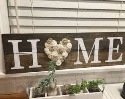rustic home sign etsy