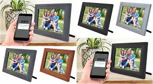 icozy digital touch screen 10 picture frame with wi fi all colors mfrb