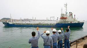Image result for US Spy Satellites Catch Chinese Ships Illegally Selling Oil To North Korea