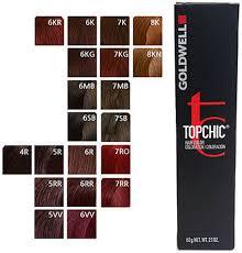 Goldwell 6rb Colour Chart Goldwell Topchic Hair Color 6r 2 1 Oz