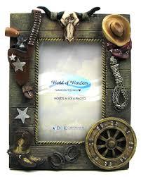 cowboy western view photo frame