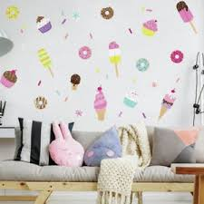 sweet treats wall decals ice cream donuts sprinkle cupcake room decor stickers on cupcake wall art stickers with cupcake wall decal ebay