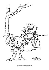 Kleurplaat Drumstel Muziekanten Beroepen
