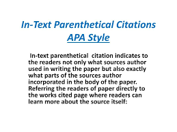 015 Apa Citation In Essay Example Text Parenthetical Citations Style