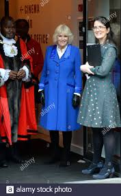 The Duchess of Cornwall with the Kiln Theatre's Executive Director Daisy  Heath (right) during a a tour