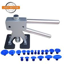 Silver Dent Lifter with 18pcs Removal Pulling Tabs Repair Tools Kit With