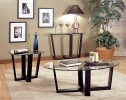 3pc black metal coffee table set