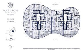 park grove floorplans park grove miami condos keyplan
