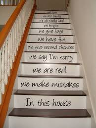 Stairs Quotes Extraordinary Stairway Quotes Decal In This House Stair Case Art Decoration Vinyl