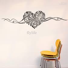 artistic heart love shape wall stickers vinyl art home room wall decor decals for living room bedroom decoration decor wall stickers decorating decals from  on artistic wall decal with artistic heart love shape wall stickers vinyl art home room wall