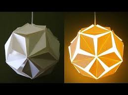 DIY lamp/lantern (5 petals) - learn how to make a paper pendant