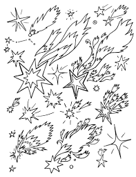 Small Picture Free Shooting Star Coloring Page