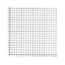 Graph Paper Stickers 1st Quadrant Numbered 50 Stickers