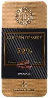 <b>Шоколад горький Golden Dessert</b> Dark <b>Chocolate</b> 72% 100г оптом ...