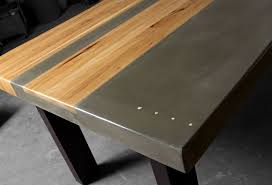 concrete and wood furniture. Modren Concrete Wood U0026 Steel Dining Kitchen Table By TaoConcrete On Etsy 450000 Furniture . And E