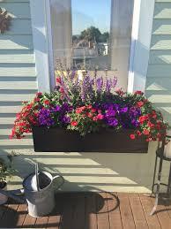 Flower Window Box Designs Window Box With Red And Purple Petunias Portulaca