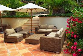 outdoor furniture trends. perfect trends patio of mediterranean villa in french riviera with wicker furniture intended outdoor furniture trends