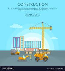 Building Process Concept Area Cartoon Style