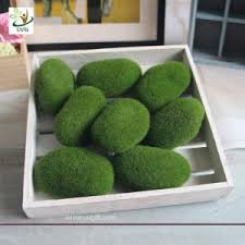 Decorative Moss Balls UVG Different Size Fuzzy Artificial Decorative Moss Balls Fake 96