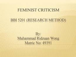 Bbi 5201 Feminist Criticism By Muhammad Ridzuan Issuu