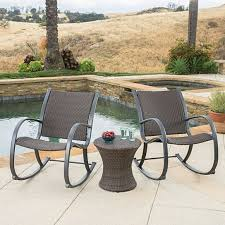 trending this item has been added to cart 47 times in the last 24 hours leann outdoor 3pc dark brown wicker rocking chair