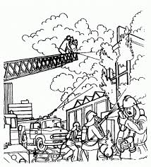 Fireman Coloring Page Activity Fireman Coloring Pages Work ...
