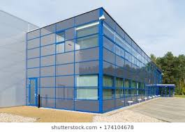 Design of office building Low Rise Exterior Of Modern Blue Office Building Commercial Property Agents Birmingham And Solihull Small Office Building Images Stock Photos Vectors Shutterstock