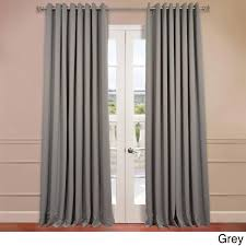 exclusive fabrics extra wide thermal blackout grommet top 108 inch curtain panel
