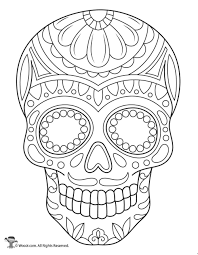 60 intricate sugar skulls designs for stress relief and relaxation (adult coloring books i think she's going to be thrilled with this one in particular as she's into all things dia de los muertos. Sugar Skull Coloring Page Woo Jr Kids Activities Skull Coloring Pages Sugar Skull Art Drawing Sugar Skull Artwork