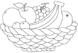 Coloring Fruit Coloring Pages For Preschoolers