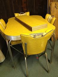 cleaning up chrome legs on formica and chrome vintage kitchen tables and chairs