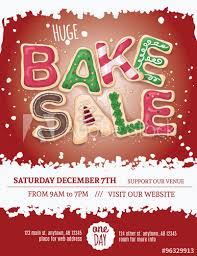 bake sale flyer templates christmas bake sale flyer template with hand drawn cookie letters on