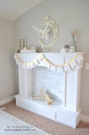 make a faux fireplace with hearth that looks absolutely real via