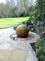 sphere outdoor fountain ball water marvelous sandstone fountains feature rainbow urban u85