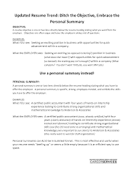 Cover Letter Personal Summary Objective Sample Resume Writing Tips