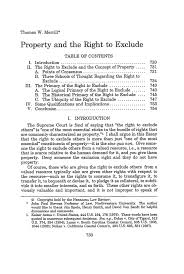 property and the right to exclude essay nebraska law review  what is heinonline