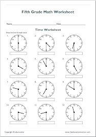 Telling Time Worksheets For Stunning And Free Printable Grade 4 1 ...