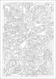 Small Picture Entangled Dragonflies Coloring Book Creative Haven 064108