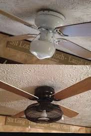 recycling repurpose ceiling fan light an edison bulb and it d
