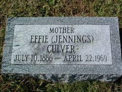 Effie Irene Jennings Culver (1886-1969) - Find A Grave Memorial