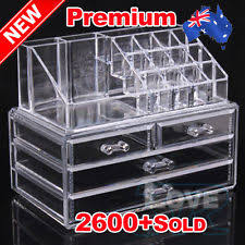 oz holder cosmetic makeup organizer 4 drawer storage jewellery box clear acrylic