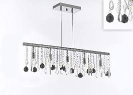 linear crystal chandelier modern contemporary broadway lighting lamp with regard to 10