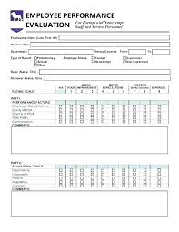 Performance Appraisal Sample Form Appraisal Template Word Annual Performance Free Excel