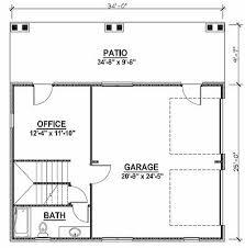 garage office plans. 1 Of 3 2 Car Garage Plans W/ Office, Loft, \u0026 Covered Porch Office .