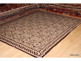 african hand woven rug brown white indian navajo design