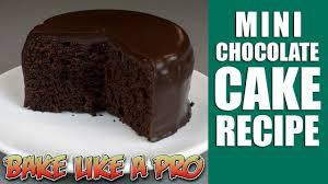 Easy Mini Chocolate Cake Recipe Youtube