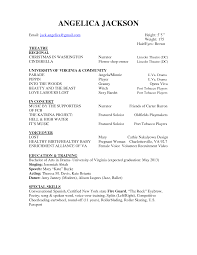 Qualifications Resume Technical Theatre Resume Templates Theater