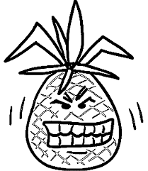 Small Picture Pineapple Coloring Pages Wecoloringpage