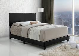 queen platform bed frame with headboard. Perfect With Amazoncom Black Bonded Leather Queen Size Upholstered Headboard  Footboard Kitchen U0026 Dining Intended Platform Bed Frame With I